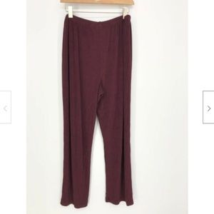 Chico's Travelers Wide Leg Pull On Acetate Pants